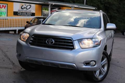 2008 Toyota Highlander for sale at Go Auto Sales in Gainesville GA