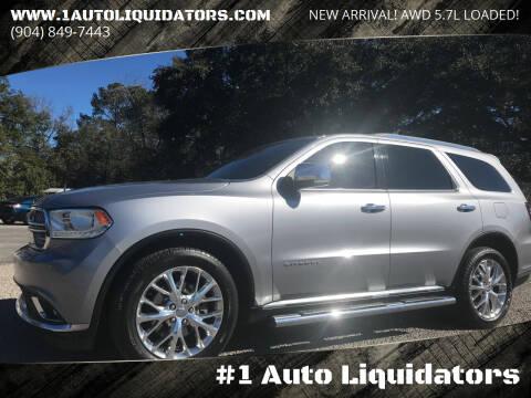 2015 Dodge Durango for sale at #1 Auto Liquidators in Yulee FL