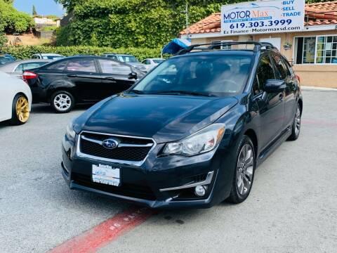 2015 Subaru Impreza for sale at MotorMax in Lemon Grove CA