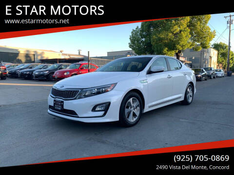 2016 Kia Optima Hybrid for sale at E STAR MOTORS in Concord CA