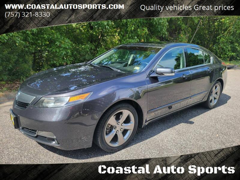 2012 Acura TL for sale at Coastal Auto Sports in Chesapeake VA