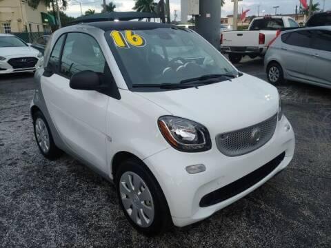 2016 Smart fortwo for sale at Brascar Auto Sales in Pompano Beach FL