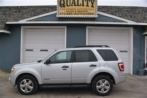 2008 Ford Escape for sale at Quality Pre-Owned Automotive in Cuba MO