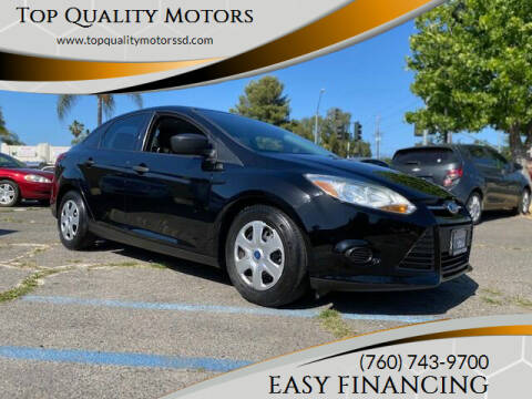 2012 Ford Focus for sale at Top Quality Motors in Escondido CA