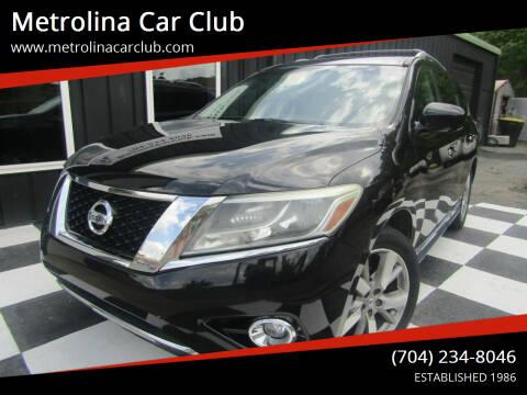 2013 Nissan Pathfinder for sale at Metrolina Car Club in Matthews NC