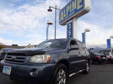 2005 Toyota Highlander for sale at Alpine Auto Sales in Salt Lake City UT