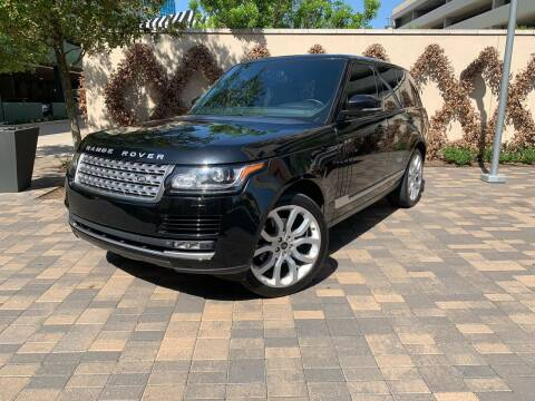 2014 Land Rover Range Rover for sale at ROGERS MOTORCARS in Houston TX