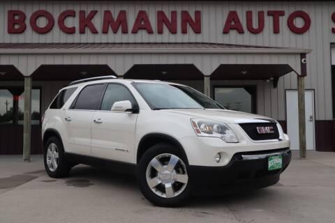 2008 GMC Acadia for sale at Bockmann Auto Sales in Saint Paul NE