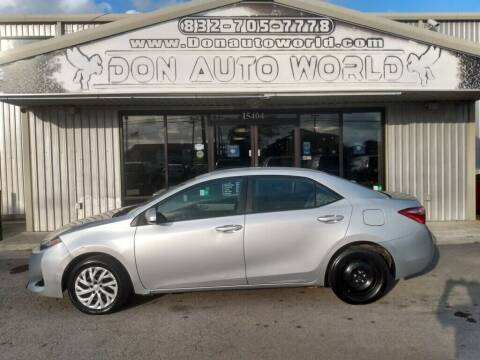 2018 Toyota Corolla for sale at Don Auto World in Houston TX