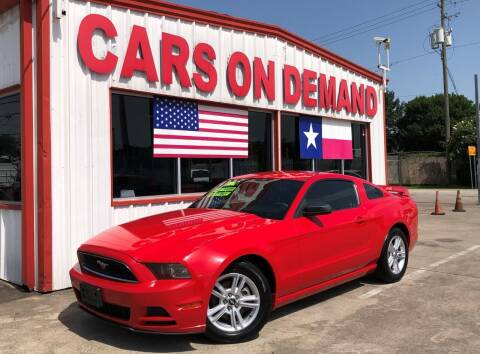 2014 Ford Mustang for sale at Cars On Demand 2 in Pasadena TX