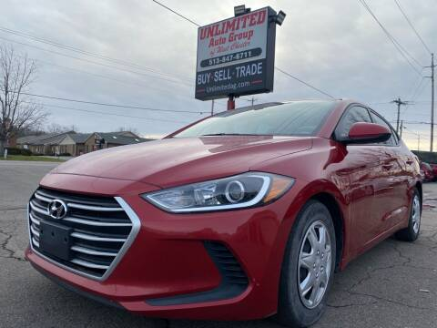 2017 Hyundai Elantra for sale at Unlimited Auto Group in West Chester OH