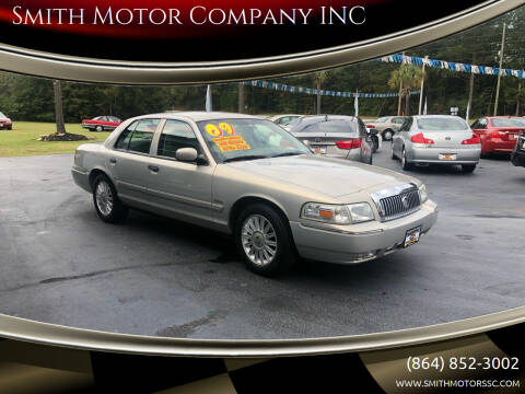 2009 Mercury Grand Marquis for sale at Smith Motor Company INC in Mc Cormick SC