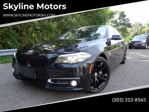 2014 BMW 5 Series for sale at Skyline Motors in Ringwood NJ