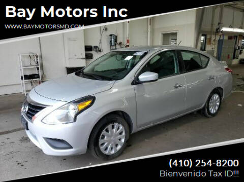 2019 Nissan Versa for sale at Bay Motors Inc in Baltimore MD