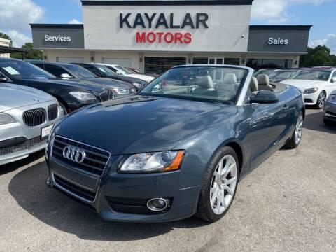 2010 Audi A5 for sale at KAYALAR MOTORS in Houston TX