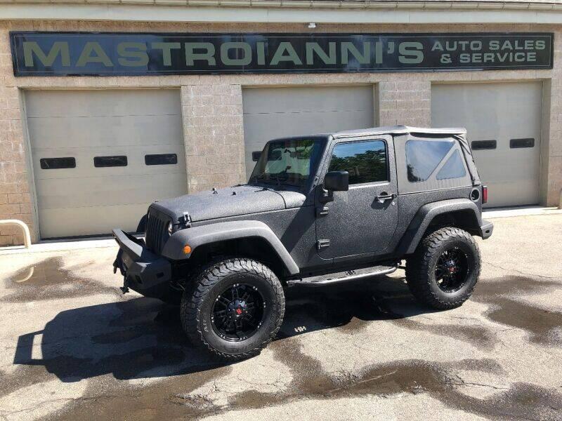2016 Jeep Wrangler for sale at Mastroianni Auto Sales in Palmer MA