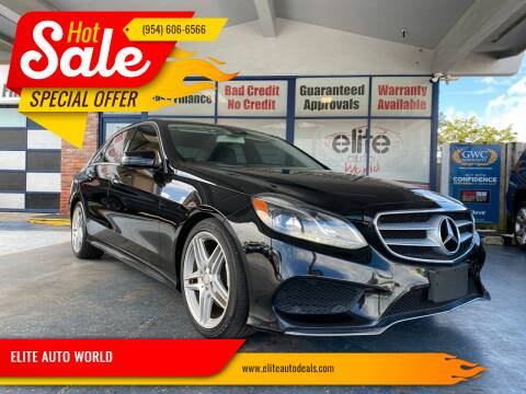 2014 Mercedes-Benz E-Class for sale at ELITE AUTO WORLD in Fort Lauderdale FL