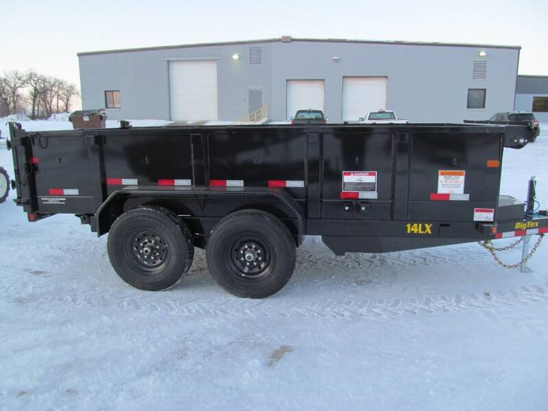 2021 Big Tex 14' DUMP TRAILER for sale at Flaherty's Hi-Tech Motorwerks in Albert Lea MN