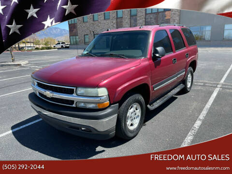 2005 Chevrolet Tahoe for sale at Freedom Auto Sales in Albuquerque NM