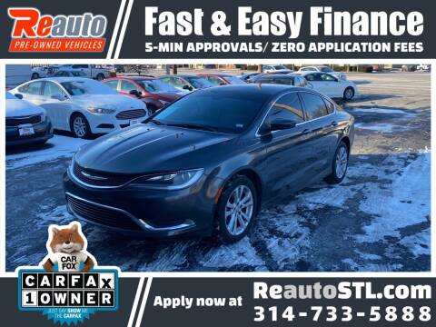 2016 Chrysler 200 for sale at Reauto in Saint Louis MO