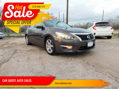 2013 Nissan Altima for sale at CAR QUEST AUTO SALES in Houston TX