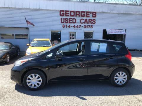 2014 Nissan Versa Note for sale at George's Used Cars Inc in Orbisonia PA