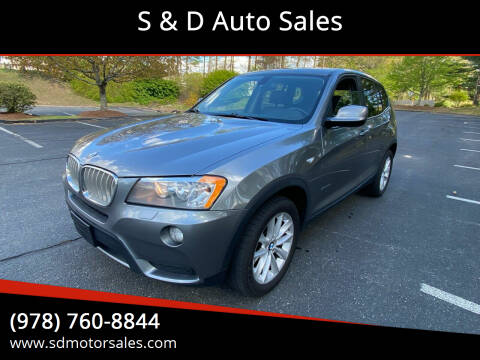 2014 BMW X3 for sale at S & D Auto Sales in Maynard MA
