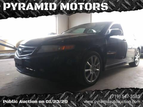 2007 Acura TSX for sale at PYRAMID MOTORS - Pueblo Lot in Pueblo CO