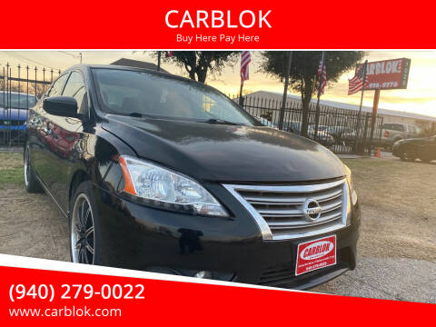 2015 Nissan Sentra for sale at CARBLOK in Lewisville TX