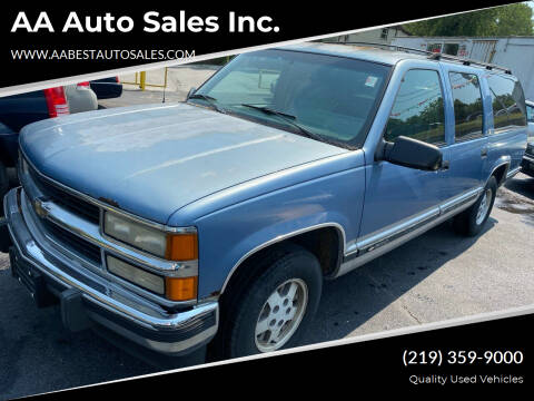 1994 Chevrolet Suburban for sale at AA Auto Sales Inc. in Gary IN
