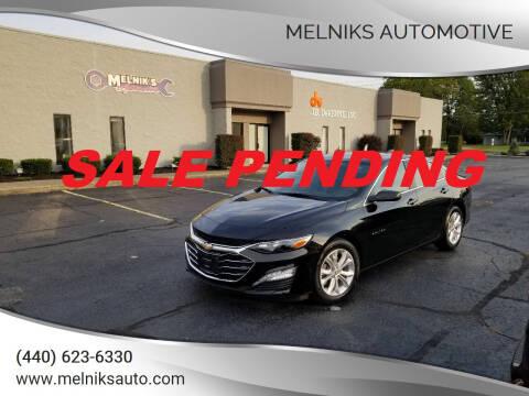 2020 Chevrolet Malibu for sale at Melniks Automotive in Berea OH