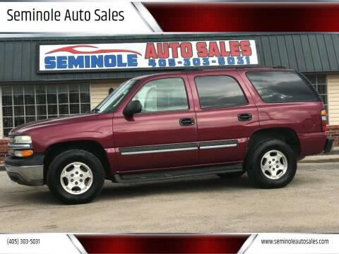 2004 Chevrolet Tahoe for sale at Seminole Auto Sales in Seminole OK