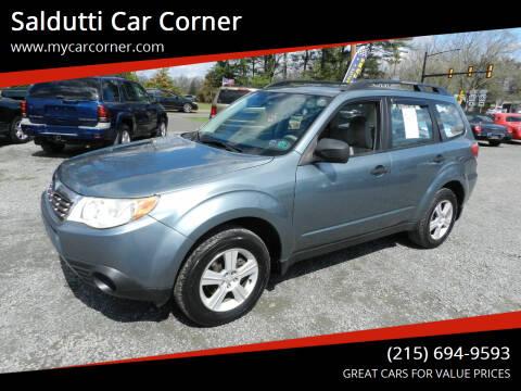 2010 Subaru Forester for sale at Saldutti Car Corner in Gilbertsville PA