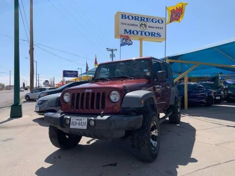 2008 Jeep Wrangler Unlimited for sale at Borrego Motors in El Paso TX