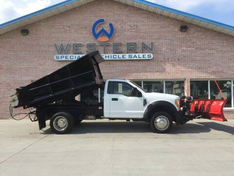 2017 Ford F550 Dump Truck Snow Plow for sale at Western Specialty Vehicle Sales in Braidwood IL