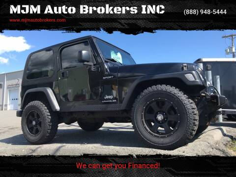 2005 Jeep Wrangler for sale at MJM Auto Brokers INC in Gloucester MA