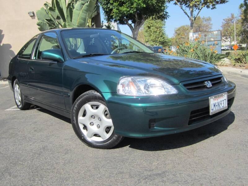 2000 Honda Civic for sale at ORANGE COUNTY AUTO WHOLESALE in Irvine CA