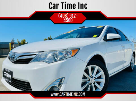 2013 Toyota Camry for sale at Car Time Inc in San Jose CA