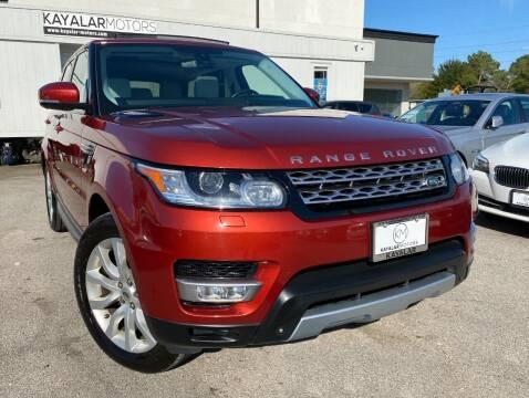 2014 Land Rover Range Rover Sport for sale at KAYALAR MOTORS in Houston TX