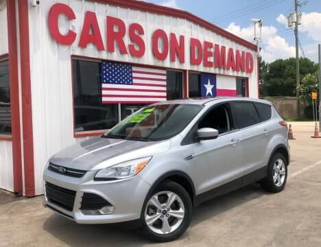 2015 Ford Escape for sale at Cars On Demand 3 in Pasadena TX