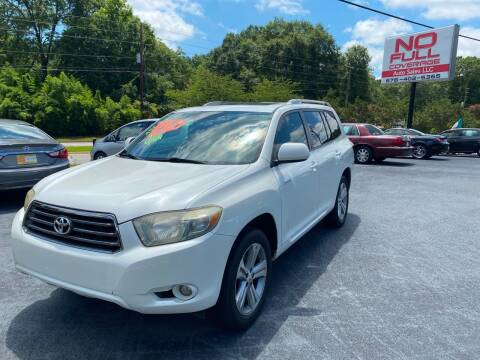 2008 Toyota Highlander for sale at No Full Coverage Auto Sales in Austell GA