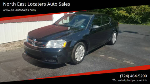 2013 Dodge Avenger for sale at North East Locaters Auto Sales in Indiana PA