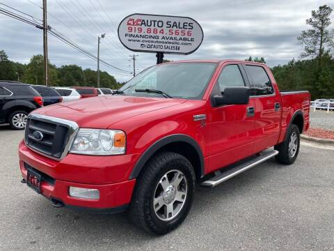 2004 Ford F-150 for sale at CVC AUTO SALES in Durham NC