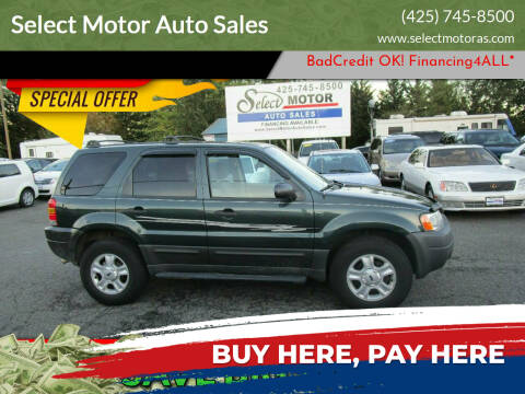2003 Ford Escape for sale at Select Motor Auto Sales in Lynnwood WA