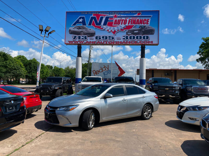 2017 Toyota Camry for sale at ANF AUTO FINANCE in Houston TX