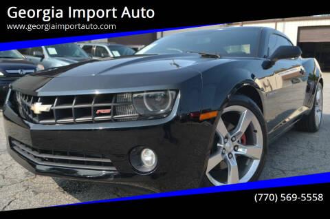 2012 Chevrolet Camaro for sale at Georgia Import Auto in Alpharetta GA