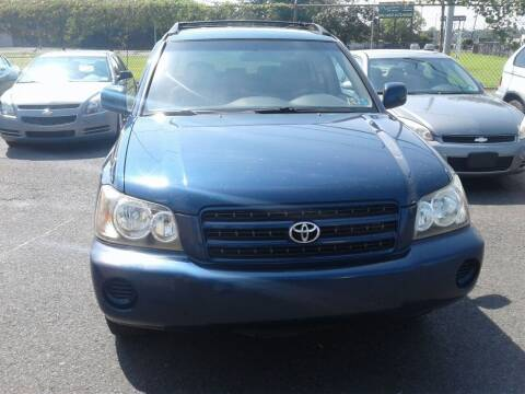 2003 Toyota Highlander for sale at Wilson Investments LLC in Ewing NJ