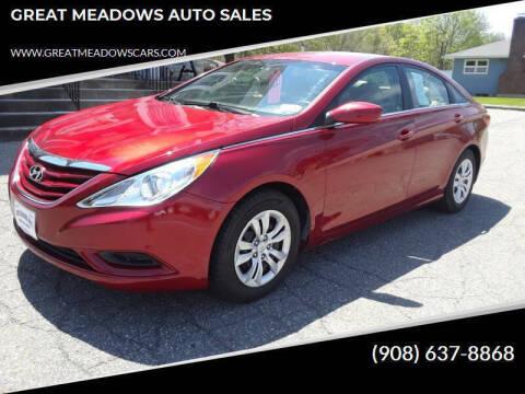 2013 Hyundai Sonata for sale at GREAT MEADOWS AUTO SALES in Great Meadows NJ