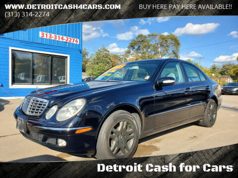 2004 Mercedes-Benz E-Class for sale at Detroit Cash for Cars in Warren MI