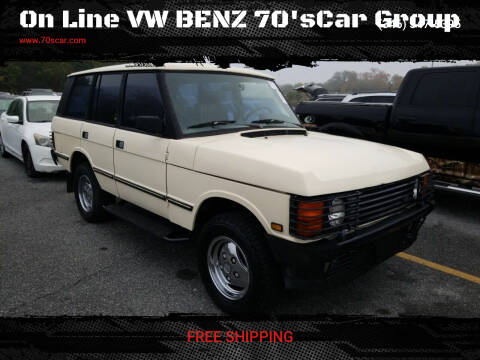 1989 Land Rover Range Rover for sale at On Line VW BENZ 70'sCar Group in Warehouse CA